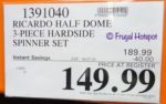 Ricardo Half Dome 3-piece Hardside Spinner Costco Sale Price