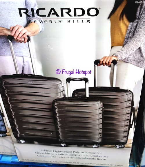 Ricardo Half Dome 3-piece Hardside Spinner Gray Costco