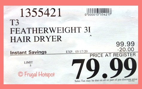 T3 Featherweight 3i Hair Dryer Costco Sale Price
