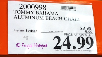 Tommy Bahama Beach Chair Costco Sale Price