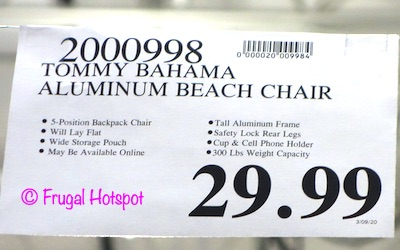 Tommy Bahama Beach Chair Costco Price