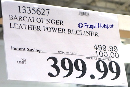 Barcalounger Leather Power Recliner Costco Sale Price