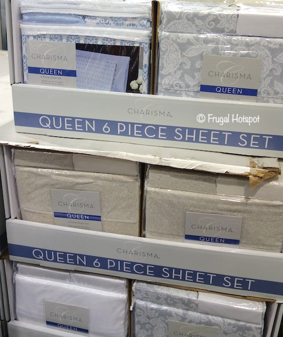 Charisma Microfiber 6-Piece Sheet Set Queen Costco