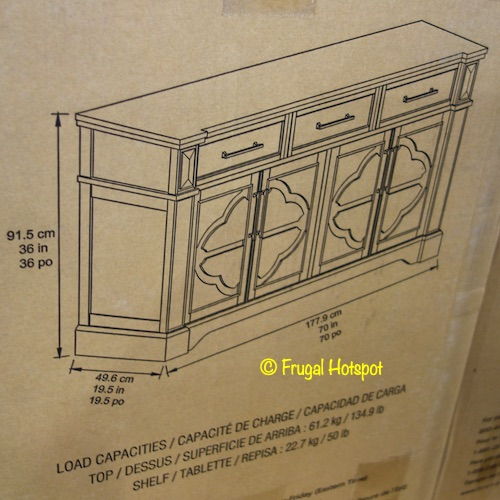 Craft + Main Cordoba 70 Accent Console Dimensions Costco
