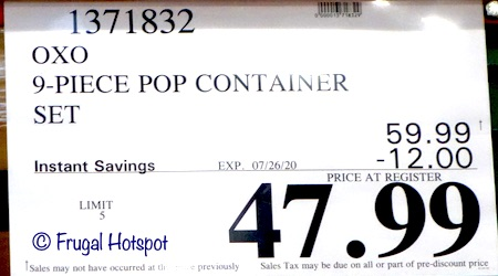 OXO SoftWorks POP Container Set Costco Sale Price