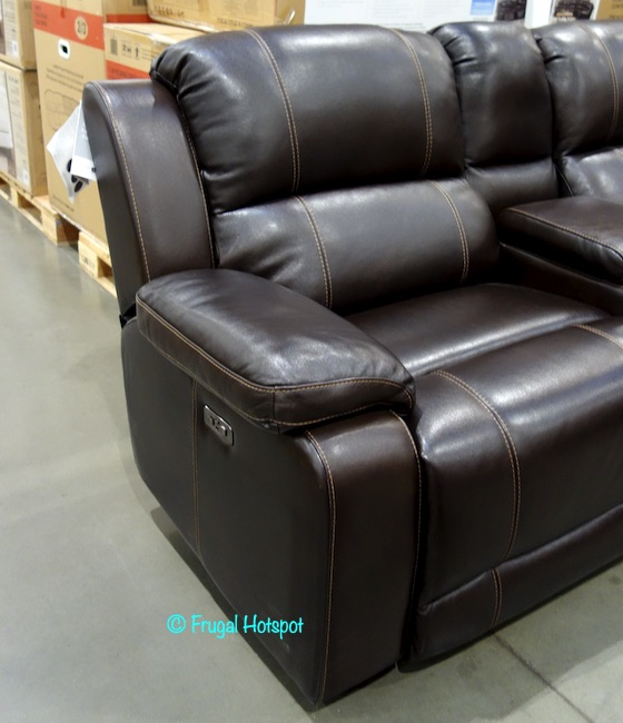Pulaski Dunhill Leather Power Reclining Sectional Chair Costco Display