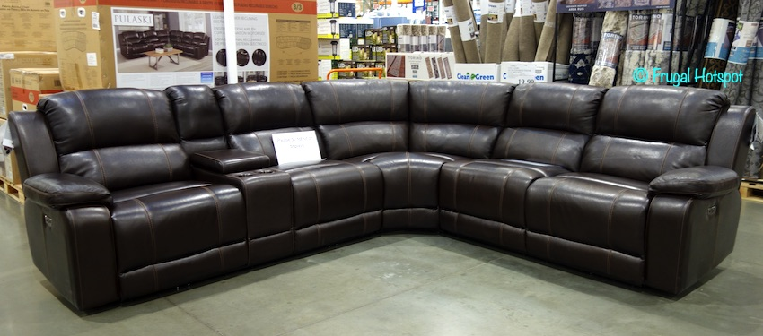 Pulaski Dunhill Leather Power Reclining Sectional Costco Display