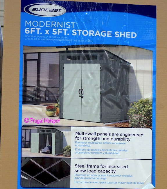 Suncast 6'x5' Resin Modern Shed Costco