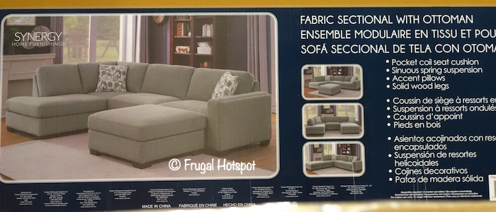 Synergy Home Maycen Fabric Sectional Costco