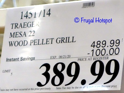 Traeger Mesa 22 Wood Pellet Grill Costco Sale Price