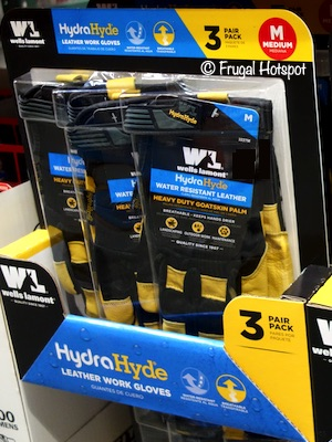 Wells Lamont HydraHyde Leather Work Gloves Costco 1369580