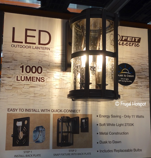 Feit Electric LED Coach Lantern Costco Display