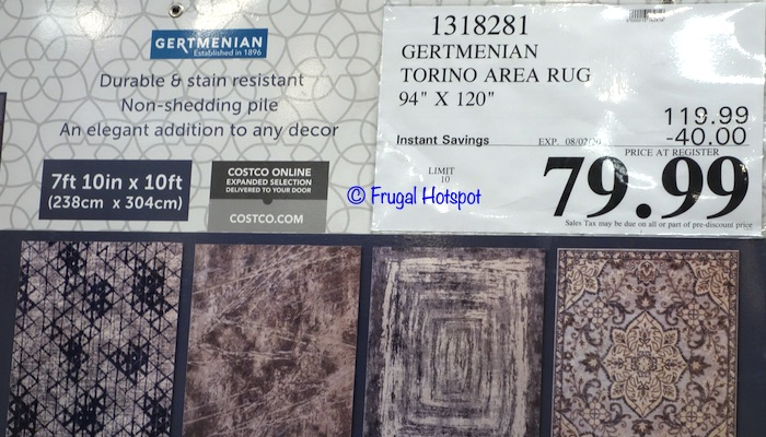 Gertmenian Torino 7'10 x 10' Area Rug Costco Sale Price