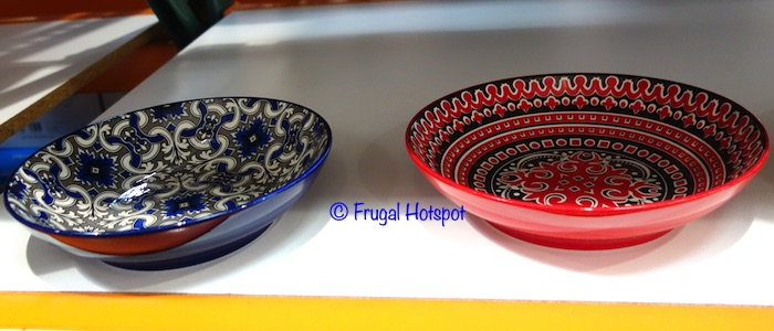Mikasa Marrakesh 9 Stoneware Bowl Red and Blue Costco Display
