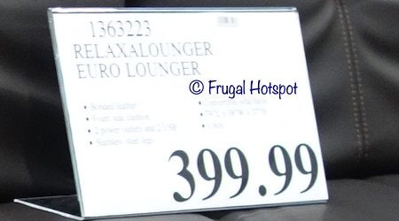Relax A Lounger Euro Lounger Costco price