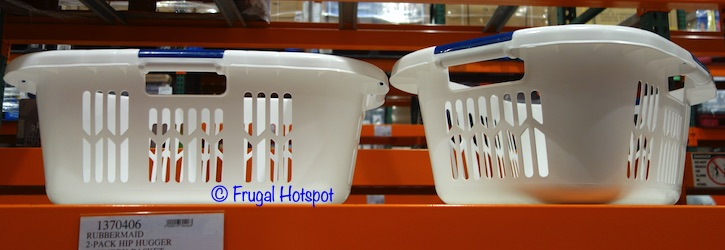 Rubbermaid Hip Hugger Laundry Basket Costco Display