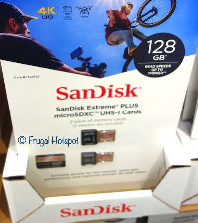 SanDisk Extreme Plus 128GB MicroSD 2-pk with adapter Costco