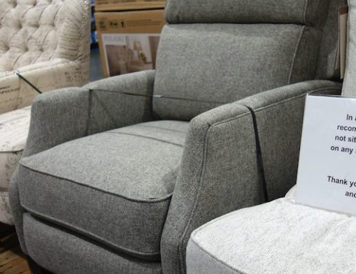 Synergy Home Lia Fabric Pushback Recliner Costco Display