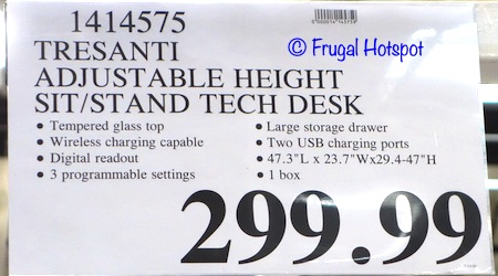 Tresanti Adjustable Height Desk 2020 Costco Price