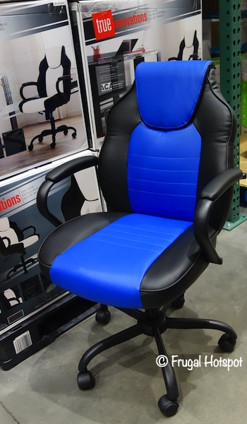 True Innovations Task Chair Black and Blue Costco