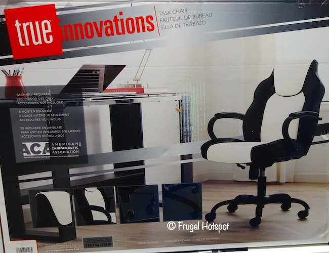 True Innovations Task Chair Black and White Costco