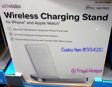 Ubio Labs Wireless Charger for iPhone and Apple Watch Costco