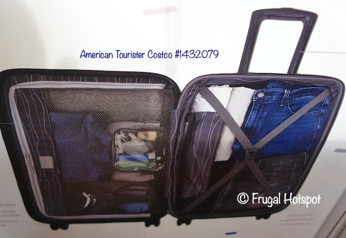 American Tourister Moonlight Plus Hardside Spinner Set 2-Piece Interior | Costco