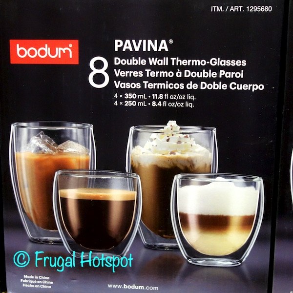 Bodum Pavina Double Wall Thermo-Glasses 8-Pack | Costco