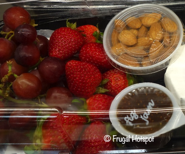 Costco Cheese and Fruit Tray with Fig Jam and Almonds (Kirkland Signature)