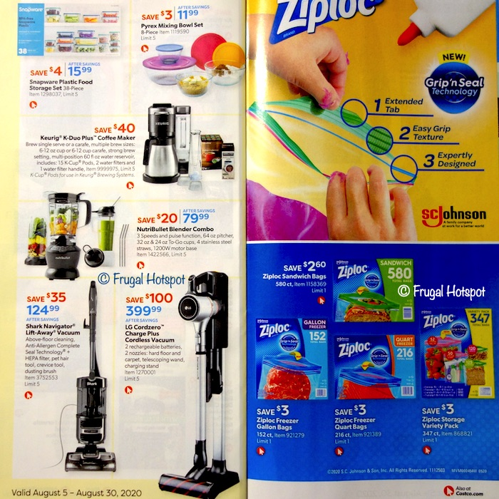 Costco Coupon Book AUGUST 2020 Page 18, Page 19