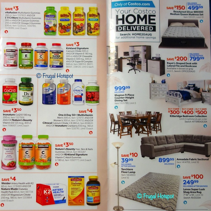 Costco Coupon Book AUGUST 2020 Page 30, Page 31