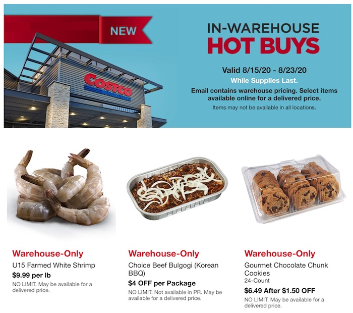 Costco Hot Buys August 2020 Page 1