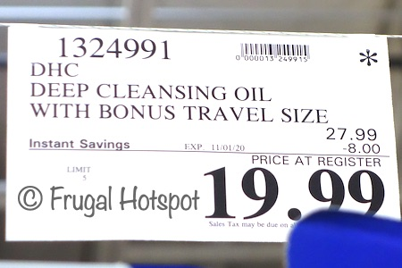 DHC Deep Cleansing Oil | Costco Sale Price