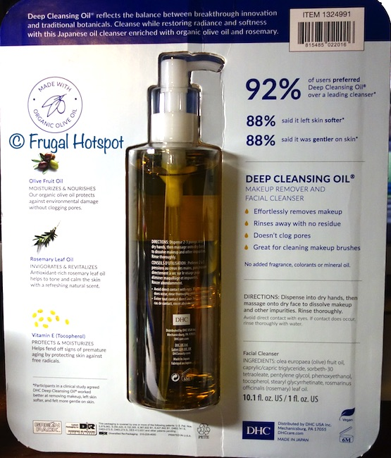 Costco Dhc Deep Cleansing Oil