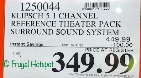 Klipsch Reference Theater Pack Sound System Costco Sale Price