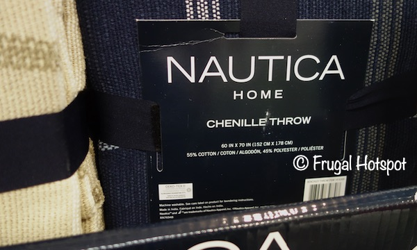 Nautica Home Chenille Throw Dimensions Costco