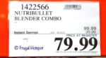 Nutribullet Blender Combo Costco Sale Price