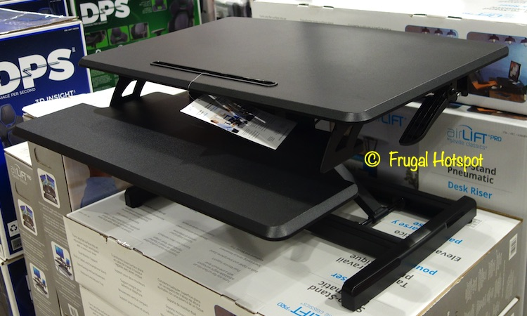 Seville Classics airLIFT Sit-to-Stand Desk Riser | Costco Display Side View