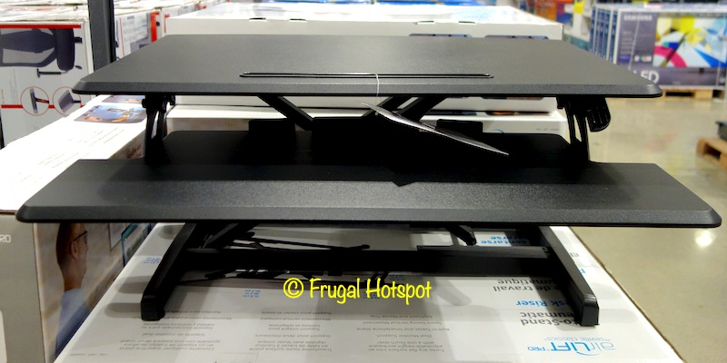 Seville Classics airLIFT Sit-to-Stand Desk Riser | Costco Display