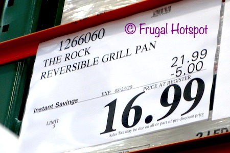 The Rock Reversible Grill Griddle Pan Costco Sale price