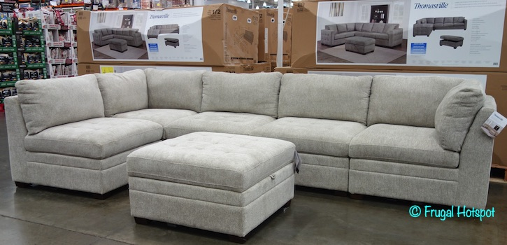 Thomasville 6-Piece Modular Fabric Sectional Costco Display