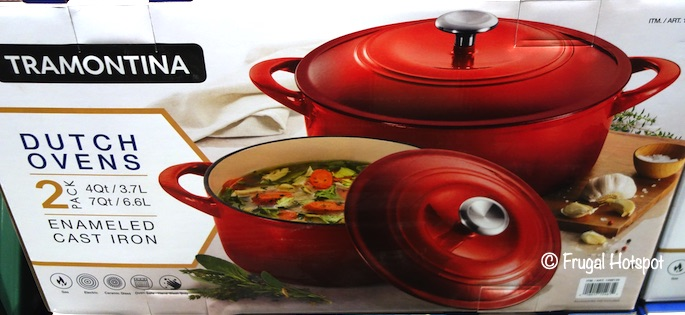 Tramontina Cast Iron Dutch Oven Red Costco