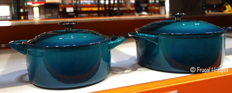 Tramontina Cast Iron Dutch Oven Teal Costco Display