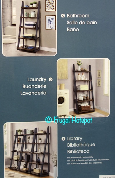 Whalen Bayside Furnishings Ashcroft Ladder Bookcase various rooms Costco