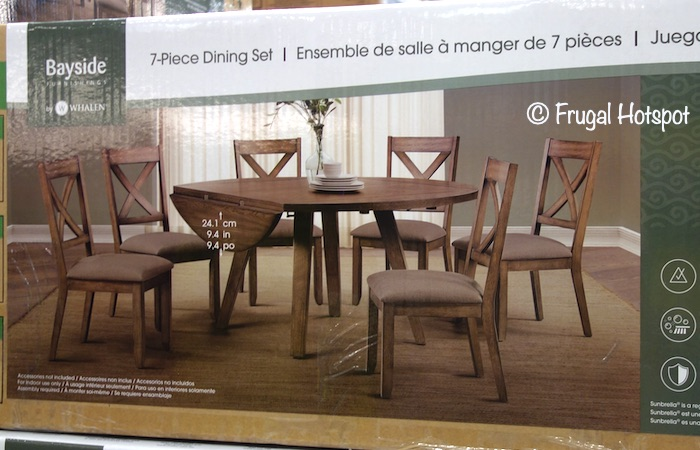 Whalen Bayside Furnishings Leyton 7-Pc Square to Round Dining Set Costco