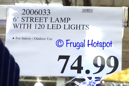 6' Street Lamp with 120 LED Lights | Costco Price