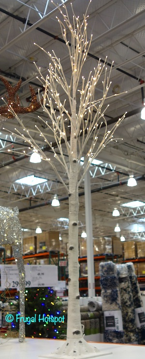 7' Faux Birch Tree with LED Lights 2020 | Costco Display