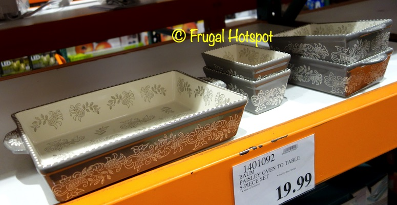Baum Paisley Oven To Table Serve Set | Costco Display
