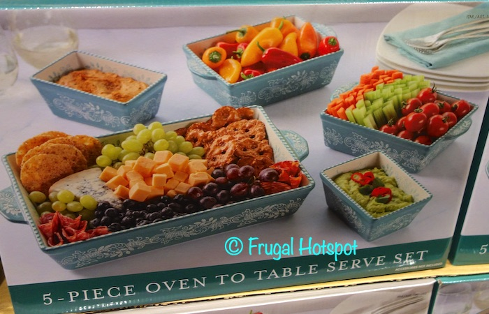 Baum Paisley Oven to Table Serve Set Teal | Costco