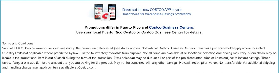 Costco In-Warehouse Hot Buys Sale! 9/12/20 -9/20/20